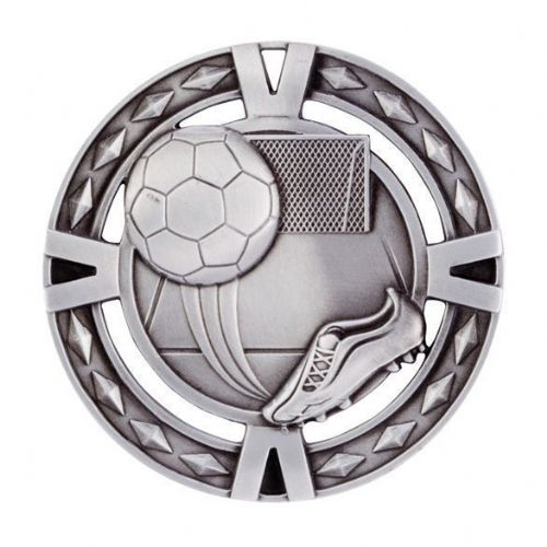 V-Tech Series Medal - Boot & Ball Silver 60mm